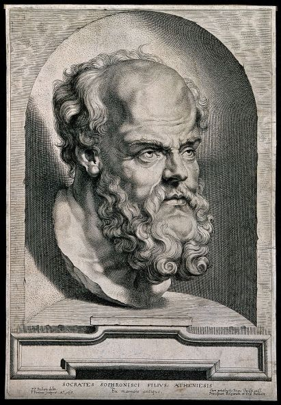 socrates-_line_engraving_by_p-_pontius_1638_after_sir_p-_p_wellcome_v0005528